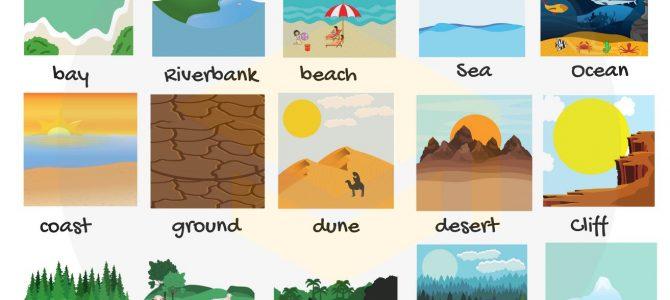 คำศัพท์ภาษาอังกฤษเกี่ยวกับธรรมชาติ Nature Vocabulary