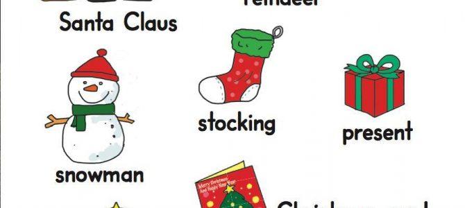 คำศัพท์ภาษาอังกฤษ หมวดวันคริสต์มาส Christmas Vocabulary