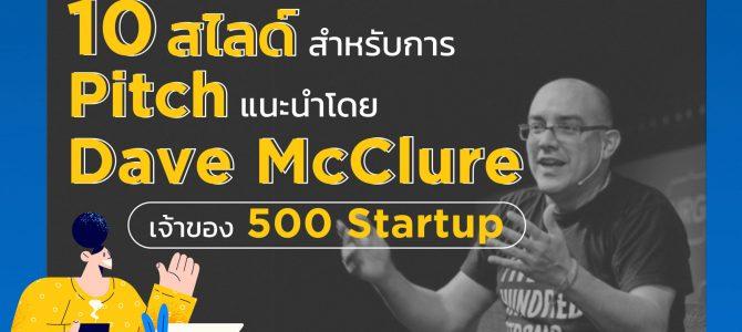 10 สไลด์ Pitch ที่ต้องมี ก่อนขายหรือขอทุนของ Startup และ SME